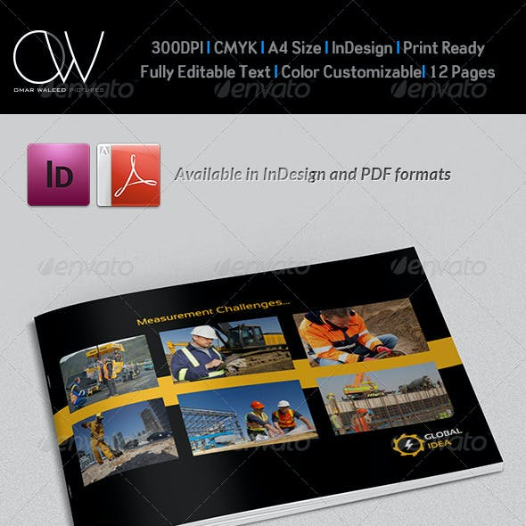Construction Industry Brochure Template - 12 Pages