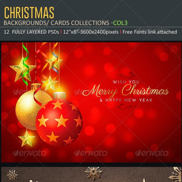 Christmas Backgrounds-Cards -Col3
