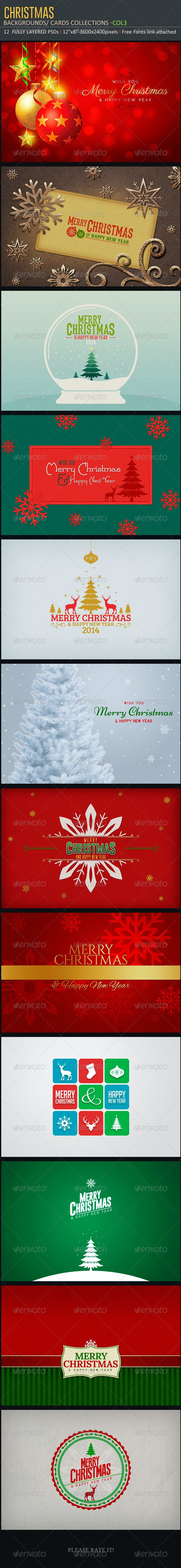Christmas Backgrounds-Cards -Col3 - Backgrounds Graphics