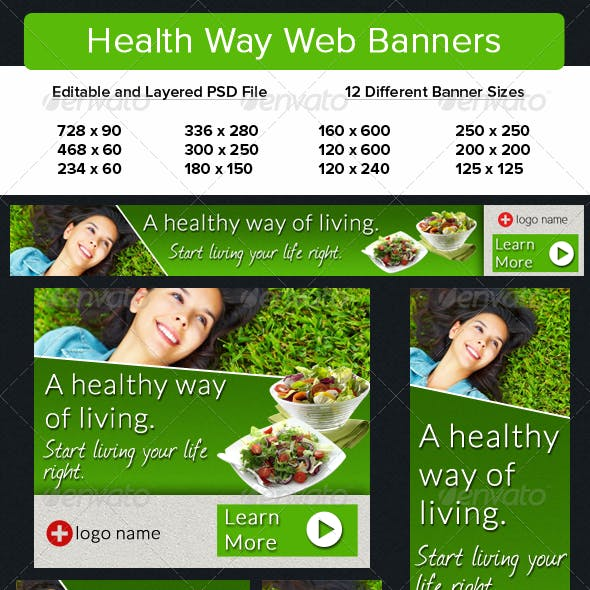 Healthy Way Web Banners