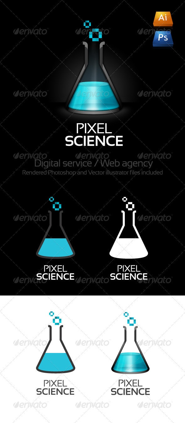 Pixel Science Logo - 3d Abstract