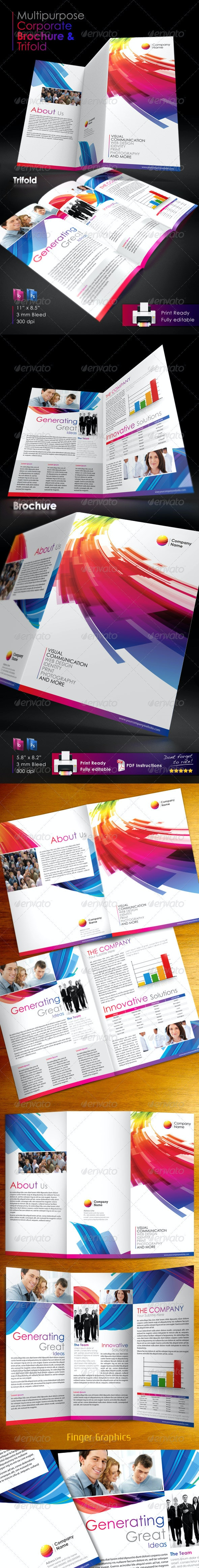 Multipurpose Corporate Brochure and Trifold - Corporate Brochures