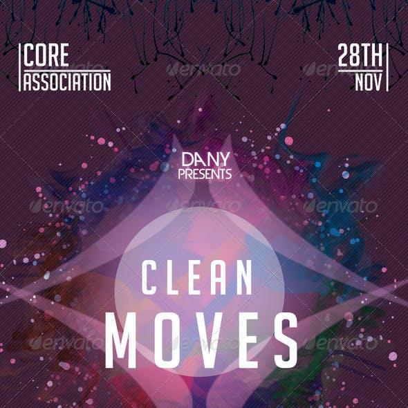 Clean Moves 11 Futuristic Flyer