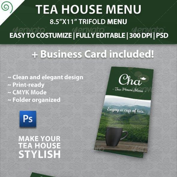 Elegant Tea House Menu