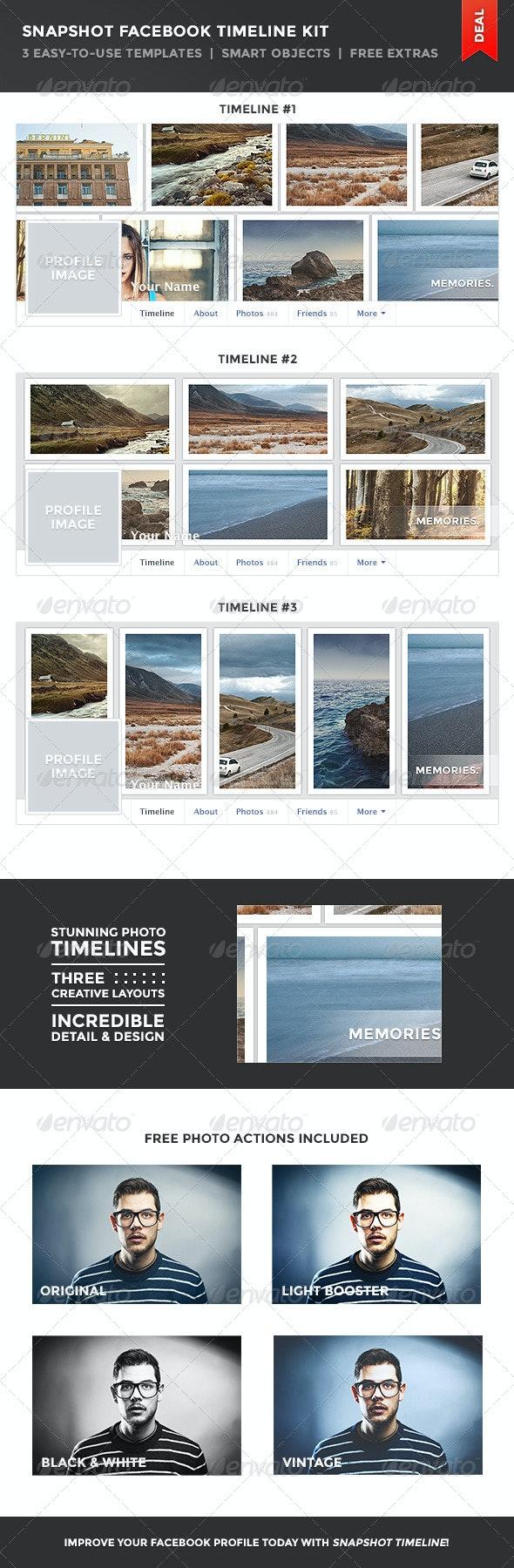Snapshot Facebook Timeline Kit - Facebook Timeline Covers Social Media