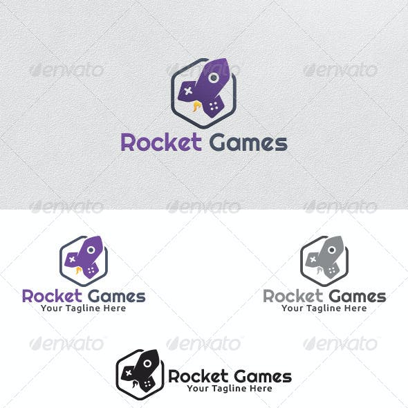 Rocket Games - Logo Template