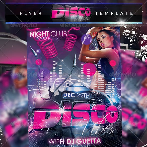 Disco Vibes Flyer Template