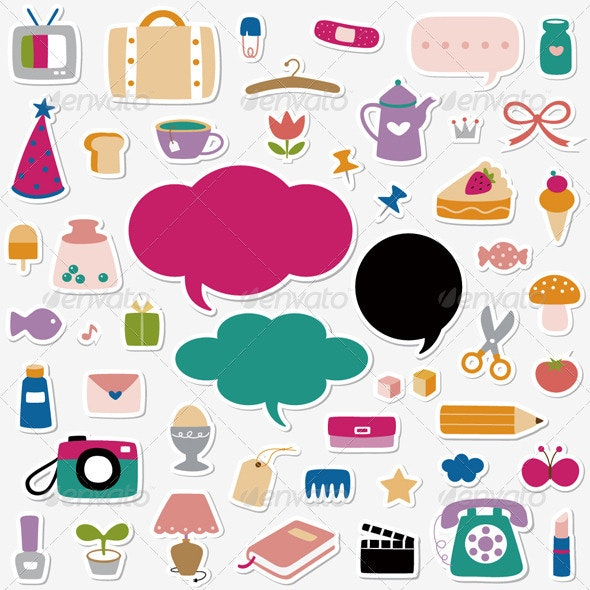 Elements Sticker Collection - Decorative Symbols Decorative