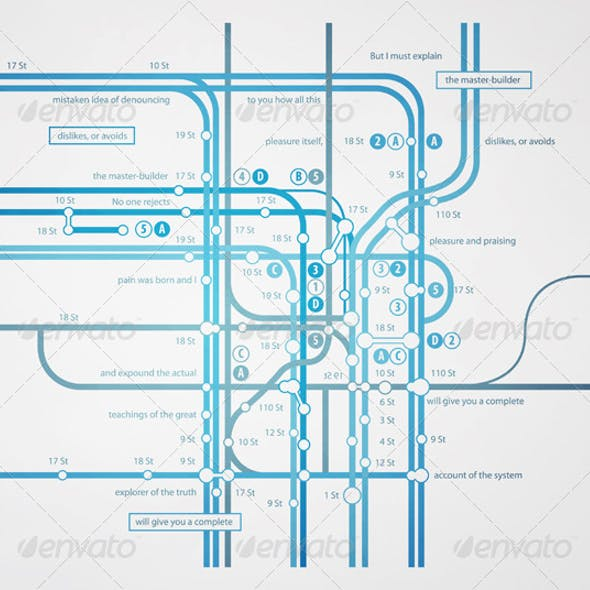 Infographics subway transportation plan