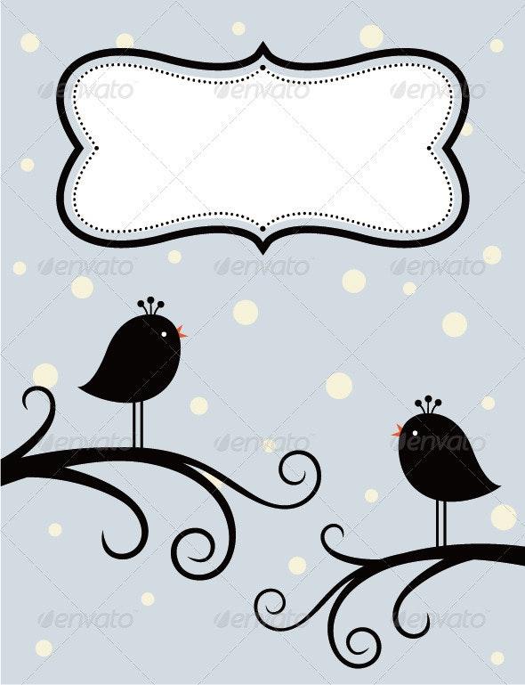 Birds InThe Winter  - Christmas Seasons/Holidays