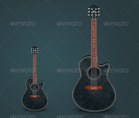 Acoustic Guitar - Objects Illustrations