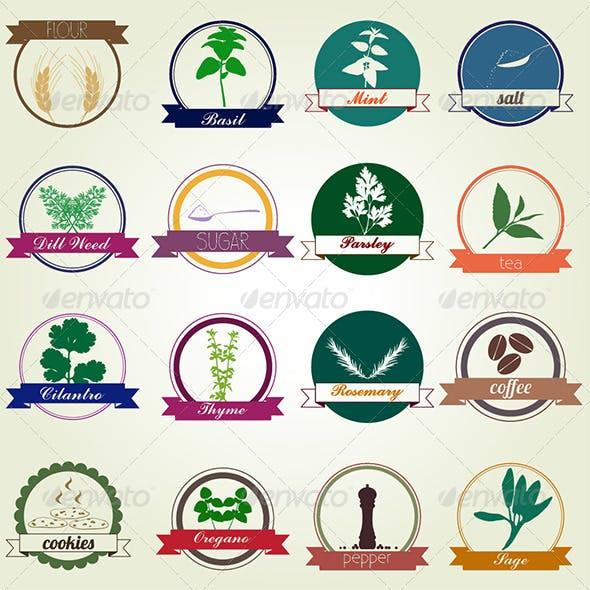 Kitchen Labels - Vector Illustration