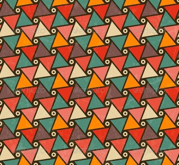 Retro Pattern of Triangle Shapes. - Patterns Decorative