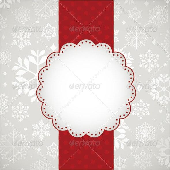 Template Frame Design For Xmas Card  - Christmas Seasons/Holidays