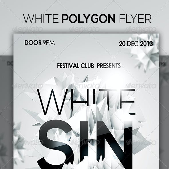 White Polygon Flyer