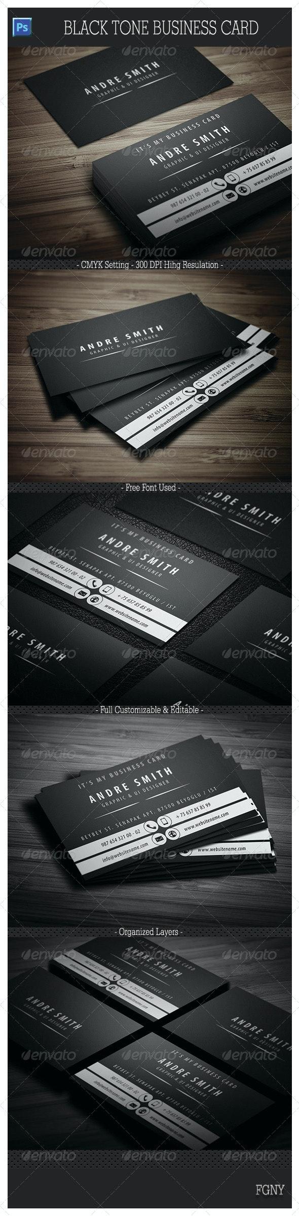 Black Tone Business Card  - Creative Business Cards