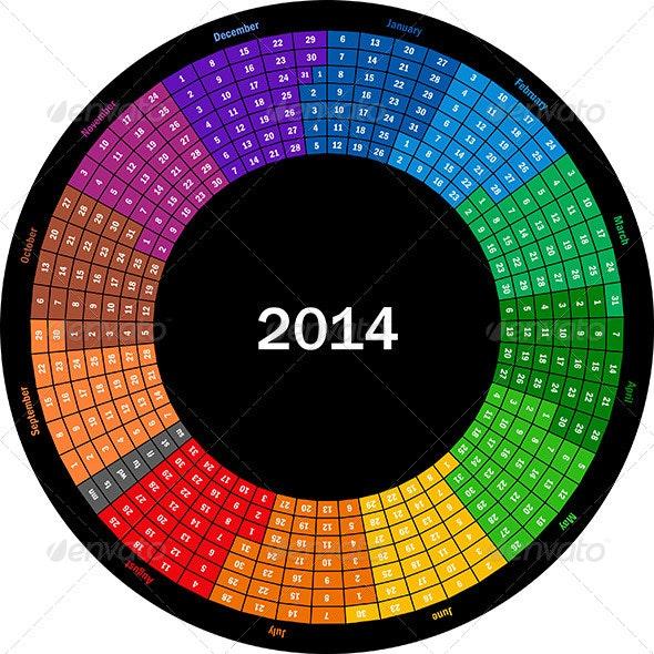 Calendar 2014 - Patterns Decorative
