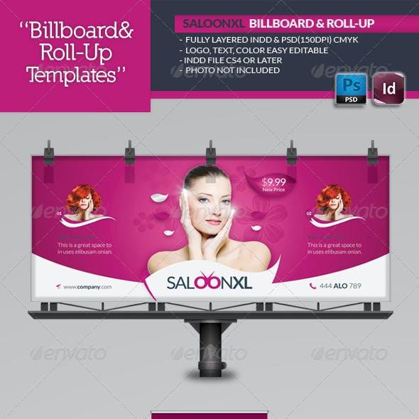 Beauty Saloon Billboard Roll-Up Template