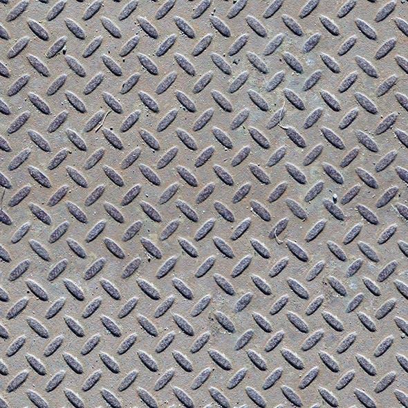 Seamless diamond patterned steel floor or wall