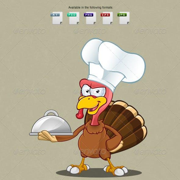 Turkey Mascot - Chef