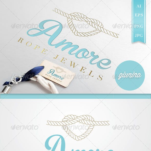 Jewels Amore Logo Template