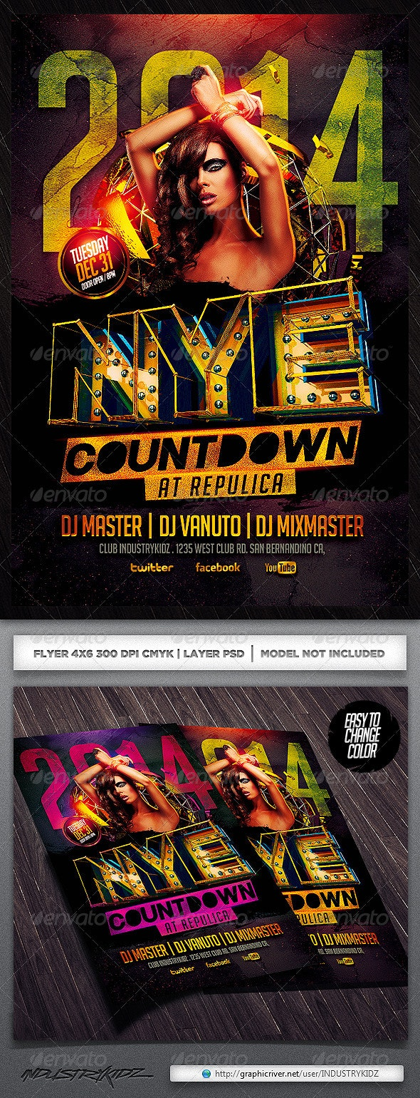 New Year Flyer Template - Events Flyers