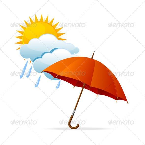 Vector Rainy Weather Icon