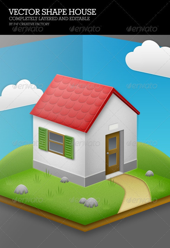 Vector Shape House - Objects Illustrations