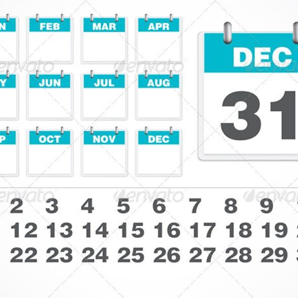 Vector Calendar Number