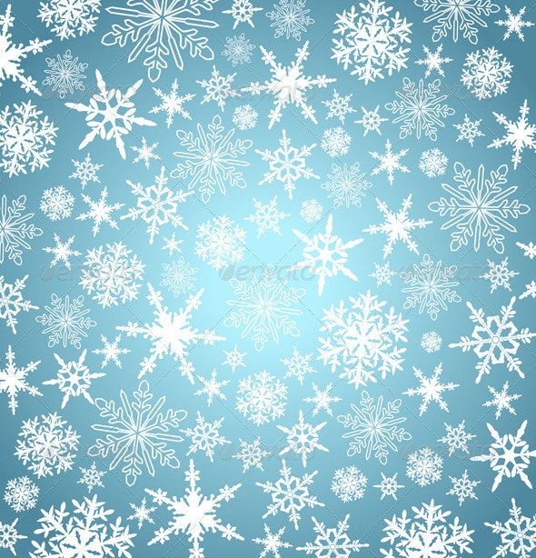 Stylized Christmas Snowflakes Abstract Background