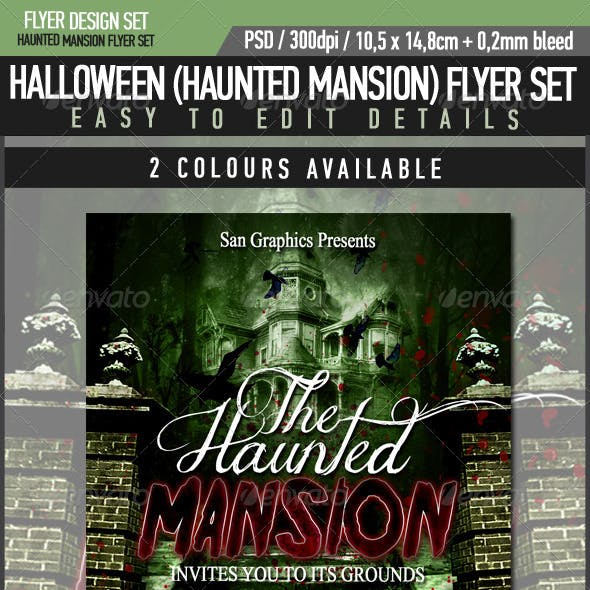 Halloween Haunted Mansion Flyer