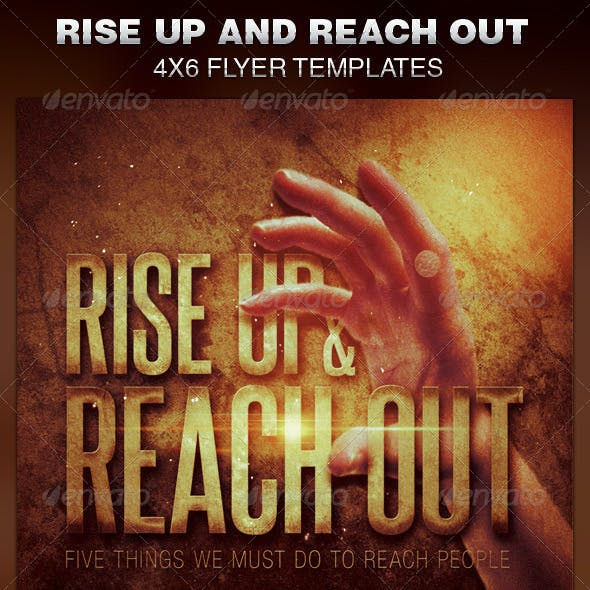 Rise Up and Reach Out Church Flyer Template