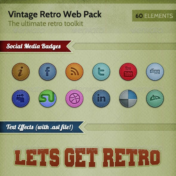 Ultimate Retro / Vintage Web Elements Pack