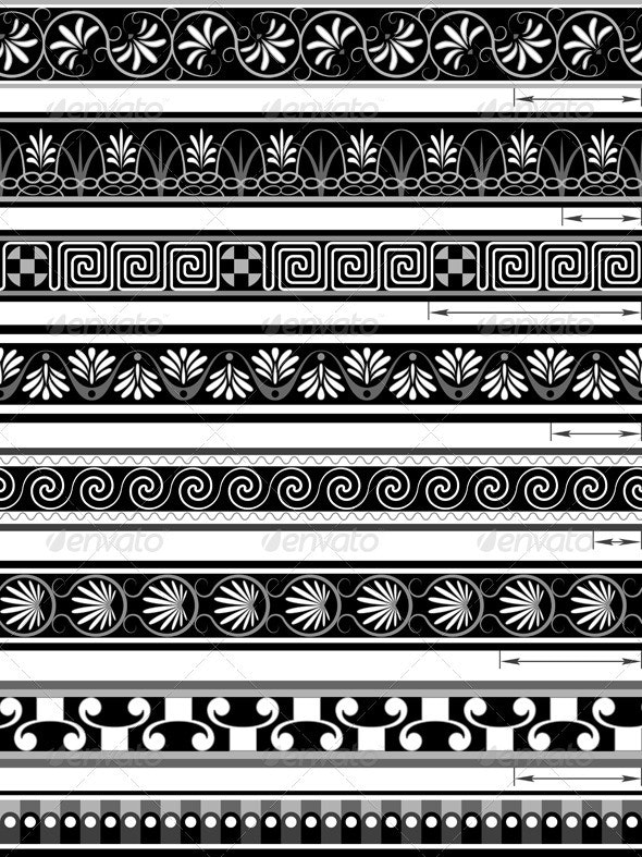 Seamless Ornaments in the Greek - Borders Decorative