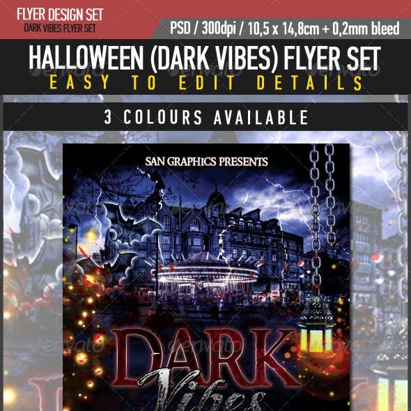 Halloween Dark Vibes Flyer Set