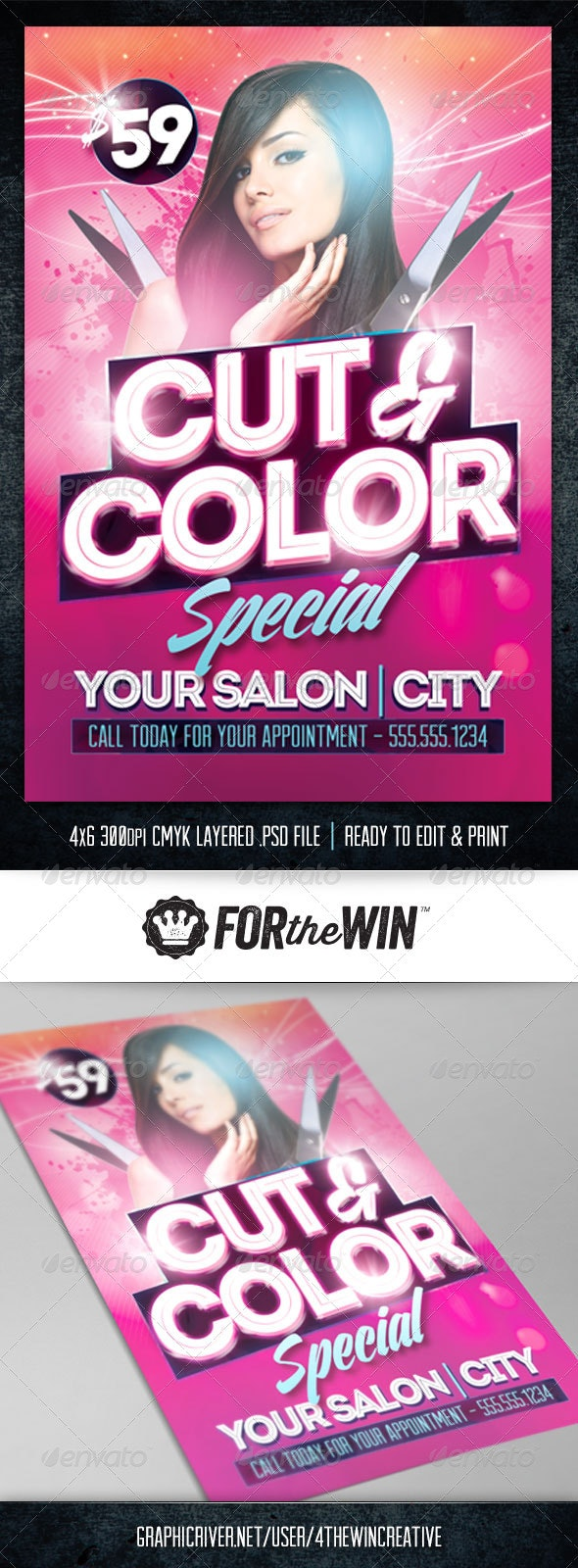 Hair Salon Flyer Template - Flyers Print Templates