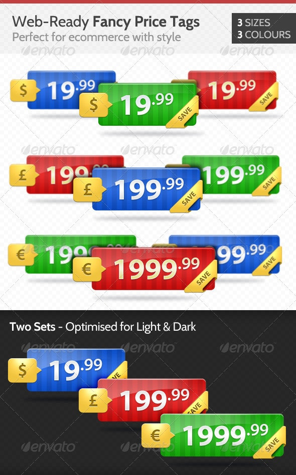 Fancy eCommerce Price Tags - Web Elements