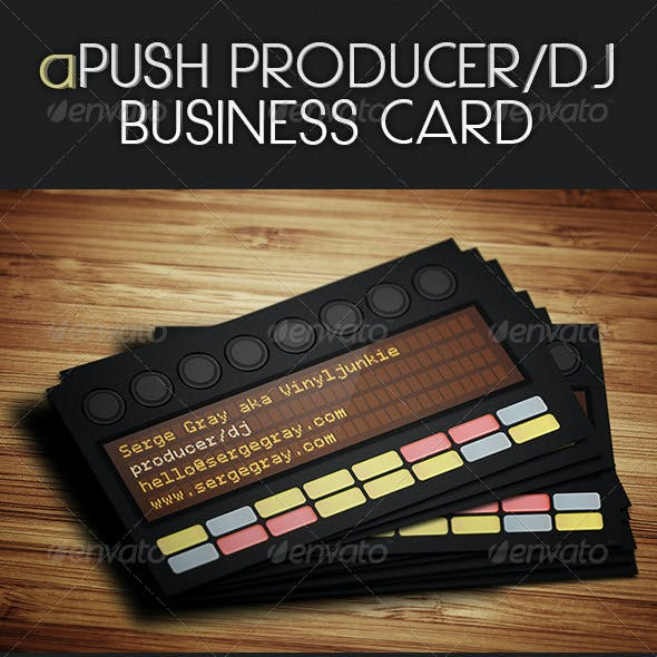 aPush Producer / DJ Business Card