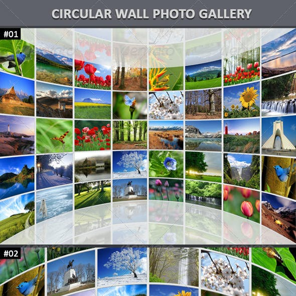 Circular Wall Photo Gallery