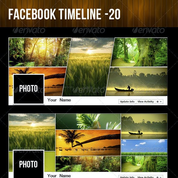 20 Facebook Timeline - Mega Pack