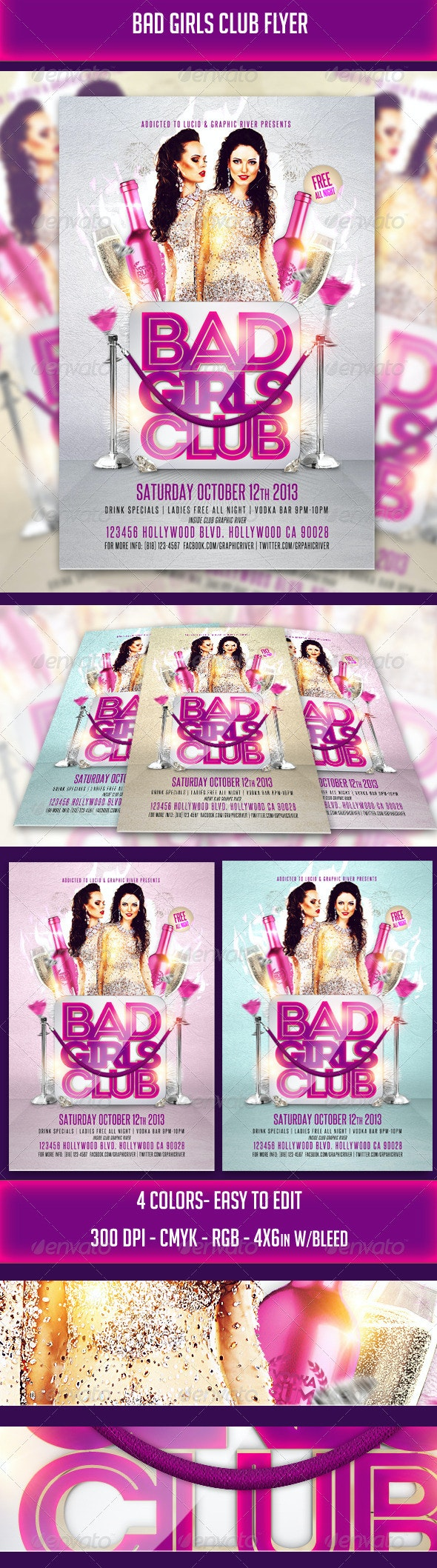 Bad Girls Club Flyer - Clubs & Parties Events
