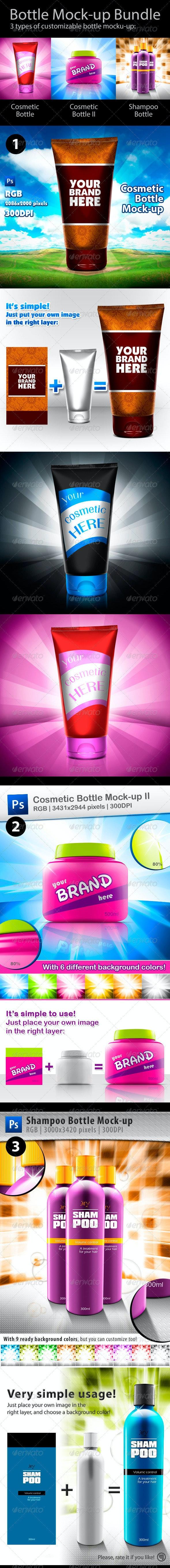 Bottle Mock-up Bundle - Packaging Product Mock-Ups
