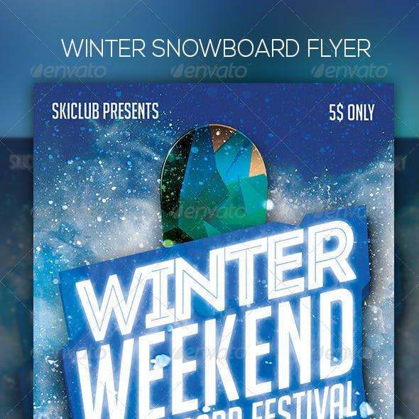 Winter Snowboard Flyer