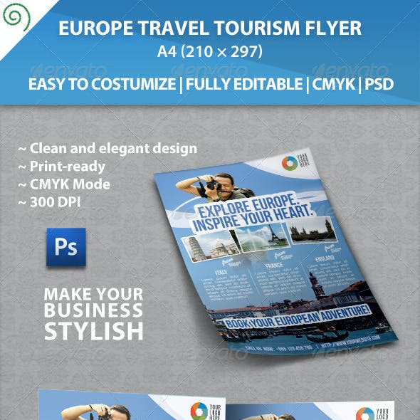 Europe Travel Tourism Flyer