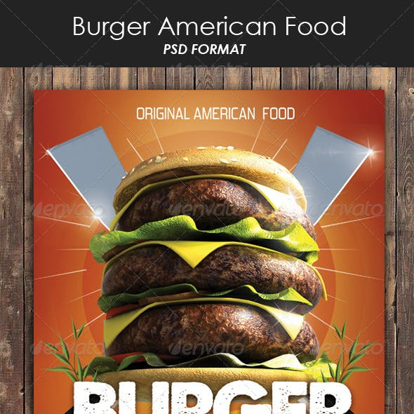Burger American Food Flyer