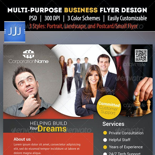 Business Flyer 17 with Postcard