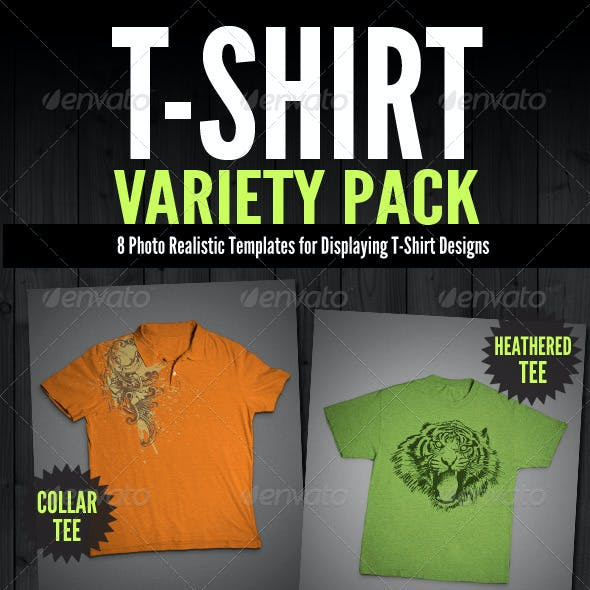 T-Shirt Mock-Ups - Variety Pack