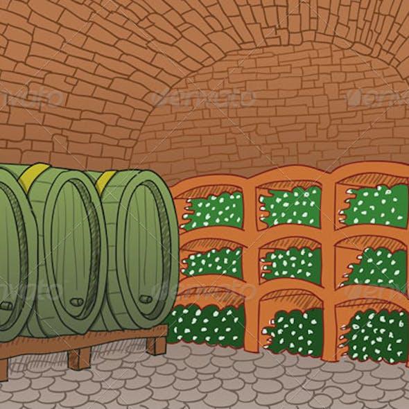 Wine Cellar Illustration