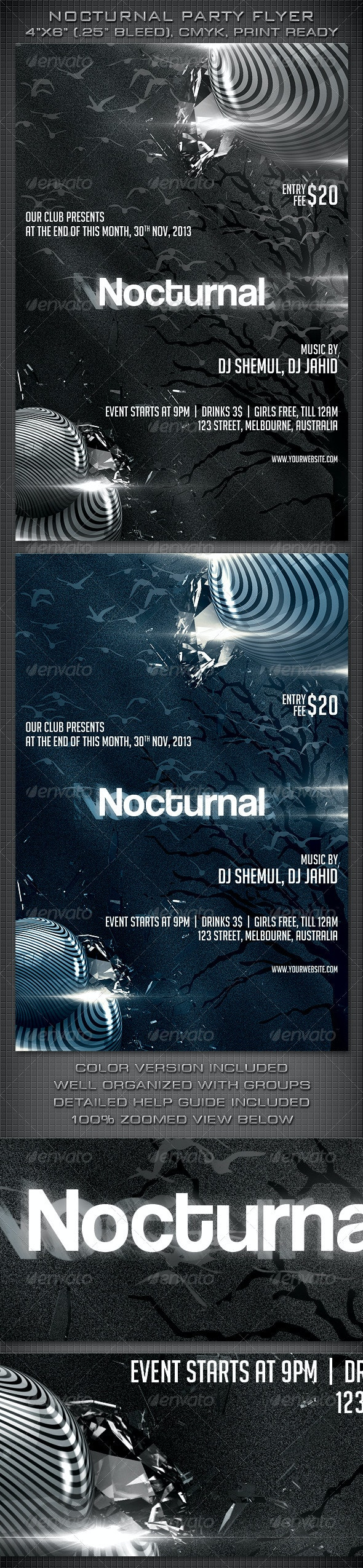 Nocturnal Party Flyer - Clubs & Parties Events