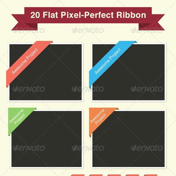20 Flat Pixel-Perfect Ribbon